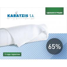 Сітка затінююча біла KARATZIS 65% 50х6 м