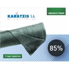 Сетка затеняющая KARATZIS 85% зеленая 50х8м