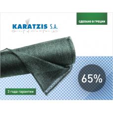 Сетка затеняющая KARATZIS 65% зеленая 50х8м