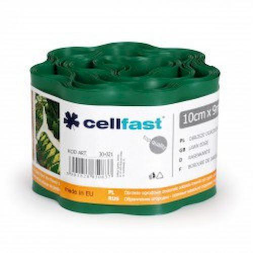 Газонні бордюр Cellfast темно-зелений 10 см * 9 м Польща