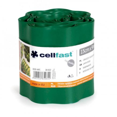 Газонный бордюр Cellfast темно-зеленый 15 см * 9 м Польша