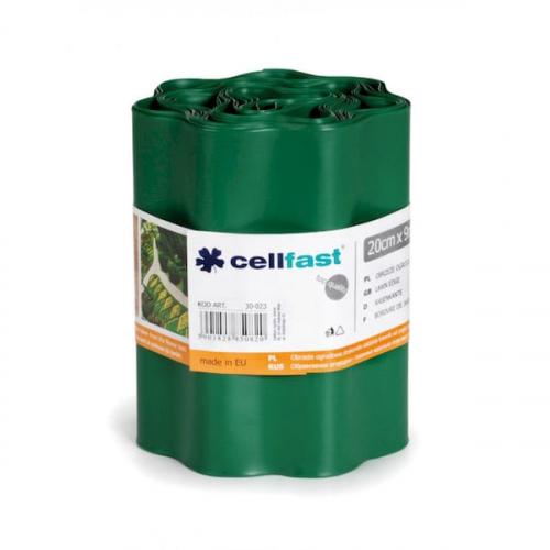 Газонні бордюр Cellfast темно-зелений 20 см * 9 м Польща