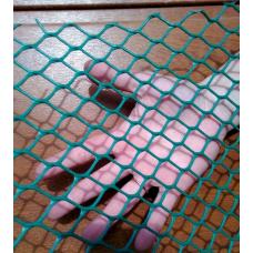 Сетка пластиковая ячейка сота 20*20 мм (зеленая) м.кв.
