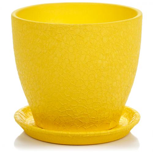 Горшок керамический Магнолия Желтая шелк 13*15*1,3