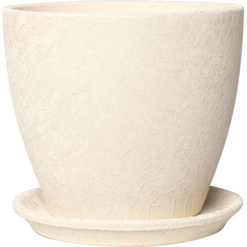 Горшок керамический Магнолия Бежевая шелк 16*19*2,5