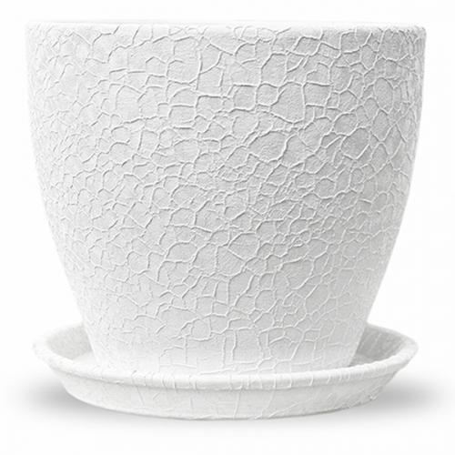 Горшок керамический Магнолия Белая шелк 18*20*3,0