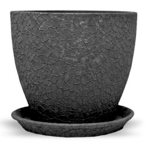 Горшок керамический Магнолия Черная шелк 18*20*3,0