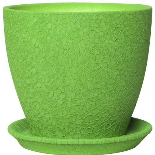 Горшок керамический Магнолия Зеленая шелк 13*15*1,3