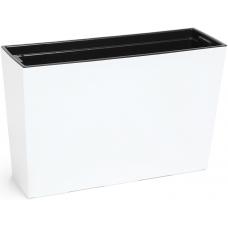 Горшок пластиковый Вербена с вкладкой Белый 190*560