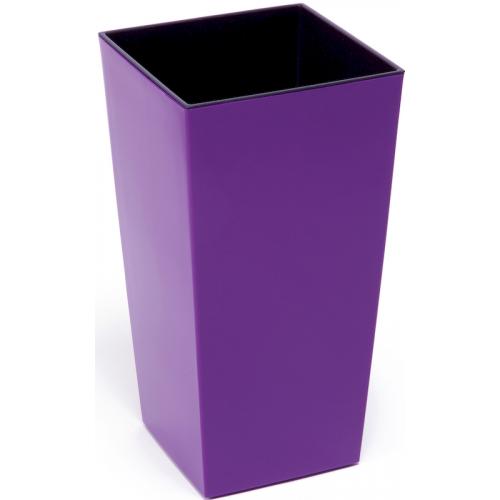 Горшок пластиковый Финезия с вкладкой Фиолетовый 140*140