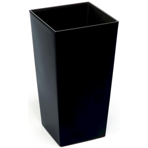 Горщик пластиковий Финезия з вкладкою Чорний 140*140