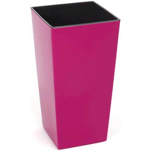 Горщик пластиковий Финезия з вкладкою Рожевий 140*140