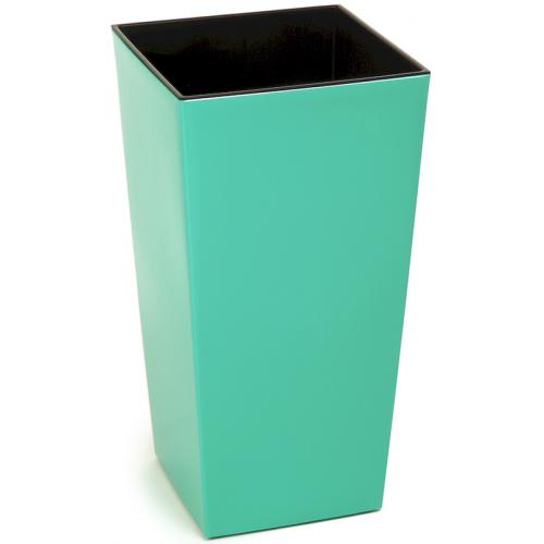 Горщик пластиковий Финезия з вкладкою Смарагд 140*140
