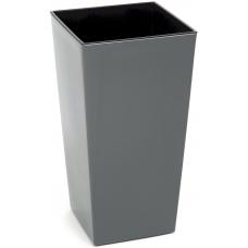 Горшок пластиковый Финезия с вкладкой Серый (Антрацит) 190*190
