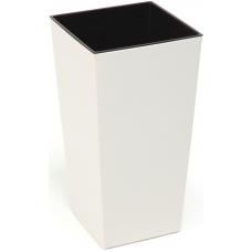 Горщик пластиковий Финезия з вкладкою Кремовий 140*140