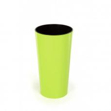 Горшок пластиковый Лилия с вкладкой Лимонный 140