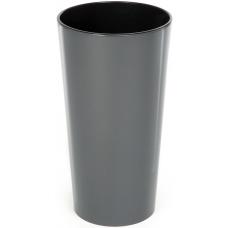 Горшок пластиковый Лилия с вкладкой Антрацит 140