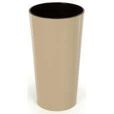 Горшок пластиковый Лилия с вкладкой Капучино 140