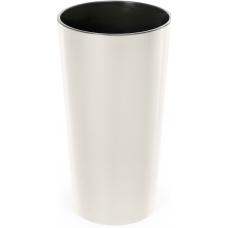 Горшок пластиковый Лилия с вкладкой Кремовый 140