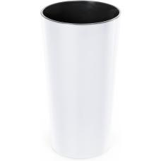 Горщик пластиковий Лілія з вкладкою Білий 400