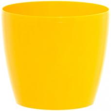 Горщик пластиковий Магнолія жовтий 210 мм