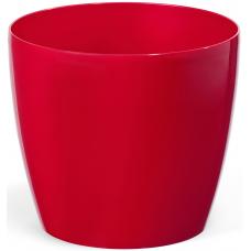 Горщик пластиковий Магнолія червоний 210 мм