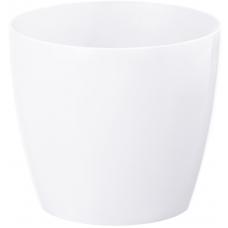 Горщик пластиковий Магнолія білий 210 мм