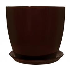 Горщик керамічний Сонет преміум 13*12,5*1,0 см шоколад