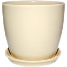 Горшок керамический Сонет премиум 18*17*3,0 см бежевый