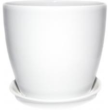 Горшок керамический Сонет премиум 10*10*0,5 см белый