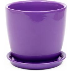 Горщик керамічний Сонет преміум 10*10*0,5 см фіолетовий