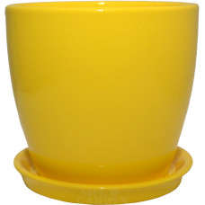 Горшок керамический Сонет премиум 10*10*0,5 см желтый