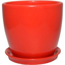 Горщик керамічний Сонет преміум 10*10*0,5 см червоний