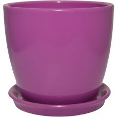 Горшок керамический Сонет премиум 15*14,5*2,0 см лаванда