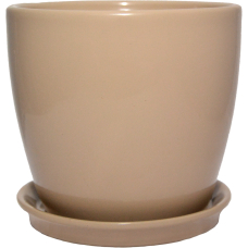 Горщик керамічний Сонет преміум 15*14,5*2,0 см мокко