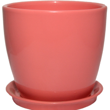 Горщик керамічний Сонет преміум 10*10*0,5 см рожевий