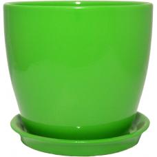 Горщик керамічний Сонет преміум 15*14,5*2,0 см зелений