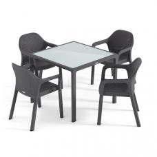 Набор гранит маленький стол + 4 стула