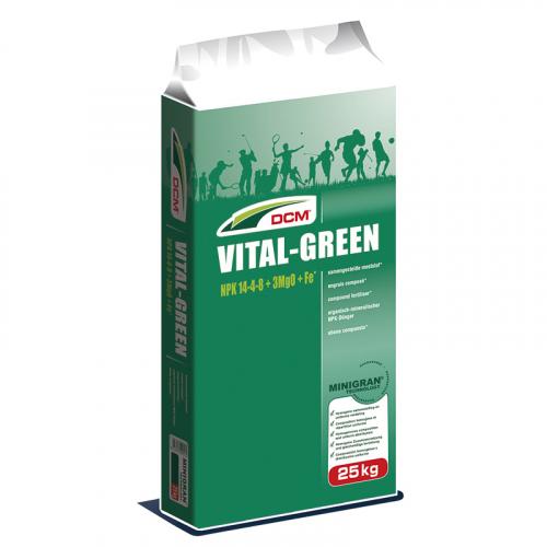 Удобрение для газона VITAL-GREEN NPK 14-4-8 + 3 MgO + Fe DCM (Бельгия) 25 кг