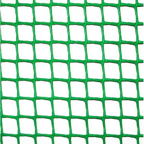 Сетка пластиковая 'забор' яч. 12х12 мм, рул. 1х20 м (зеленая)
