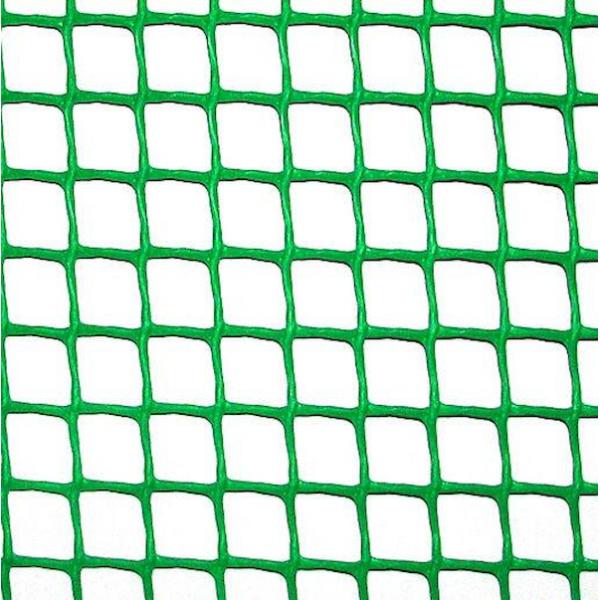 Сітка пластикова 'огорожа' яч. 10х10 мм, рул. 1х20 м (зелена)