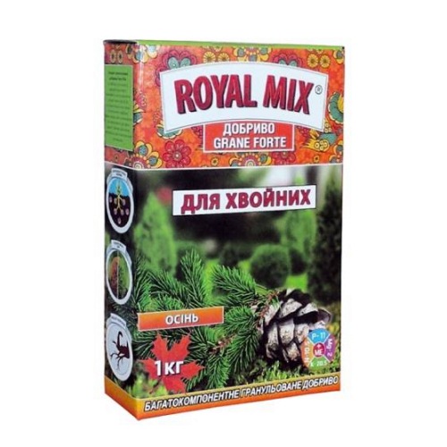 Удобрение для хвойных осеннее Royal Mix Grane Forte 1 кг (коробка)
