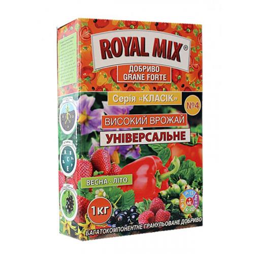 Удобрение универсальное Royal Mix Grane Forte Высокий урожай 1 кг (коробка)