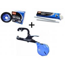 Степлер для гілок Max original HT-S45E (BL) посилений + стрічка і скоби (MAX_S45E-KIT)