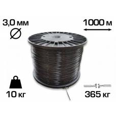 Пластикова шпалерний дріт (Агрошпалера) Італія 3 мм (1000 м)