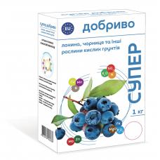 Удобрение для голубики, черники и других растений кислых почв 1 кг Супер добриво