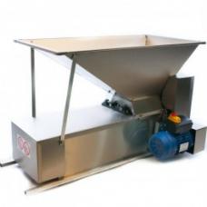 Электродробилка с гребнеотделителем из нерж. стали 1000*500 мм, емк. 45 кг, Италия