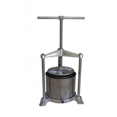 Ручной пресс для винограда Р 120, 5,3 литра, нерж. сталь, Италия